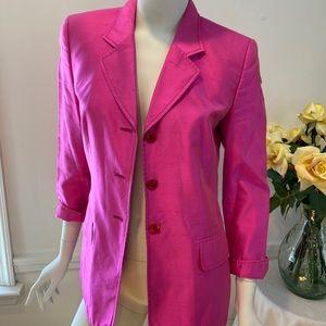 ESCADA  Margaretha Ley Raw Silk Jacket Size 34